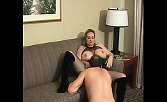 Mature chick with massive tits wants to get her pussy licke