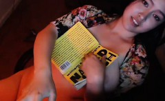 Big Titty Asian Webcam Girl Reading Naked