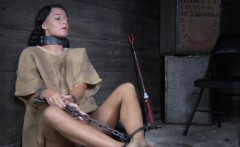 Sub slut toys herself until shes restrained