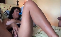 QHS - Dirty Speaking Hairy MILF POV Banged