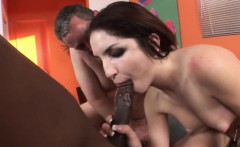 Brunette Cara Enjoys A Black Cock