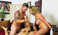 Bigtitted massage babe facesitting in trio