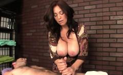 Bigboobs milf masseuse ruining clients orgasm