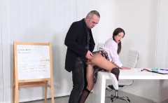 Pretty schoolgirl is seduced and plowed by her older teacher