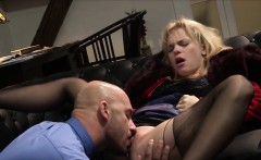 Sexy blonde Baby Dream shaved pussy drilled hard