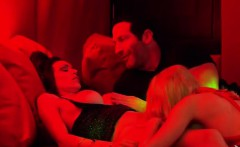 Sexy swingers enjoy a hot pole dancing action together