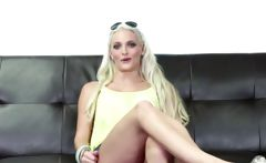 Blonde Florida stripper on the CastingCouchX