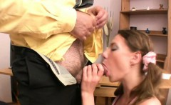 Babe acquires her enchanting pussy ravished by teacher