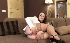Horny czech girl opens up her tight pussy to the extreme