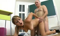 Old teacher is enjoyable lovely babe's pussy