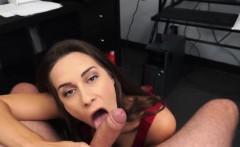 Sexy babe Cassidy Klien sucks his daddys cock