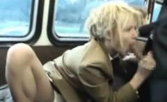 Flexi Schoolgirl Sucks Stranger in a Bus!