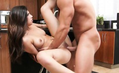 Hot Young Brunette Rides Cock In The Kitchen Ava Taylor