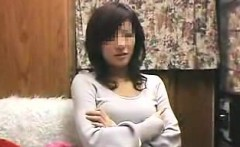 Sexy slender Oriental girl is offered the chance to enjoy a