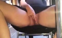 Inexperienced pussy that is public thumb
