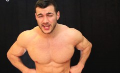 massive muscle god has straight punk service his cock