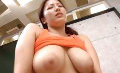 Meisa Hanai Asian doll sucks cock