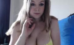 Incredible Big Titty Blonde Teen On Webcam