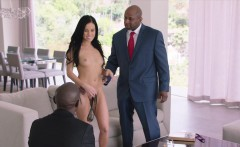 BLACKED Megan Rain Gets DP'd By Sugar Daddy and His Friend