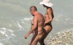 Hidden cam expose nudists fucking on candid beach