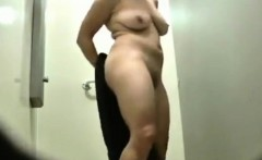 My sexy step mom voyeured in the shower