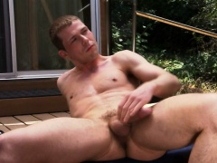 Muscled ass toyed hunk
