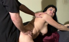 Busty MILF Claudine fucks her man on camera