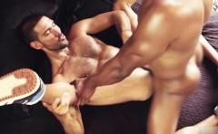 Big dick gay anal sex with facial