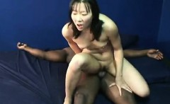 Little tit Oriental bitch experiencing her first black peni