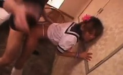 Fascinating Japanese teen with a sublime ass is addicted to