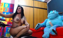 Perfect Big Tits Camgirl Playing On Webcam