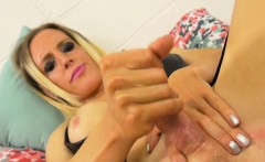 Busty shemale masturbating and asstoying