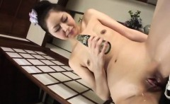 Hana tries a tasty dong up her needy throat