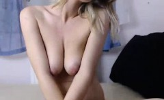 Horny busty blonde solo