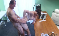 Doctor bangs busty milfs pussy hole