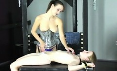 Naked hotties roughly playing in bondage xxx video