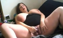 Big boobs Mandy May gagged and masturbation