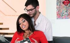 Ella Knox swallow Logan Longs huge cock deep throat
