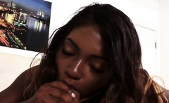 Ebony Babe Noemie Bilas Sucks And Rides Huge Cock