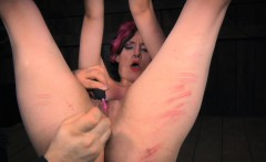 Busty submissive punished and asstoyed