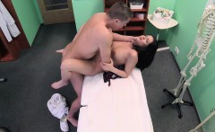Fake Hospital Shy brunette has explosive orgasms