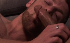 Hunky english lad drenched in cum after anal
