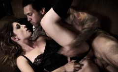 Charles Dera bangs Kristen Scotts pussy doggy