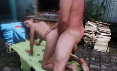 Amateur outdoor anal fuck