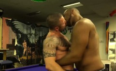 Ray Diesel and Russ Magnus barebacking in the man cave