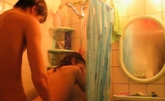 Hot teen gets buck naked and gives a sizzling oral-service