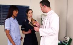 British nurse femdoms sharing subs cock