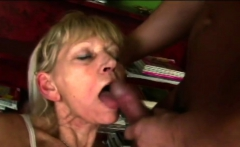 Old blond with a young dick enjoys her afternoon