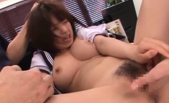 Schoolgirl gives steamy oral-job stimulation and eats jizz