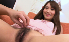 Cute Brunette Asian Lass Getting Her Cunt Rubbed Up